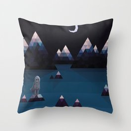 so quiet Throw Pillow