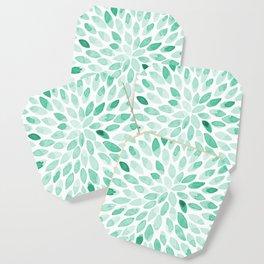 Watercolor brush strokes - aqua Coaster