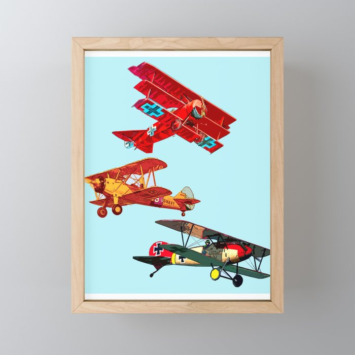 Airplanes Framed Mini Art Print