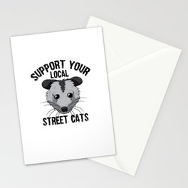 Support Your Local Street Cats Opossum Opossums Stationery Cards