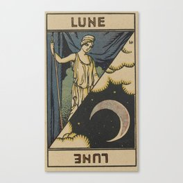 Lune Moon Canvas Print
