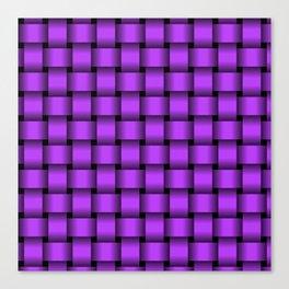 Light Violet Weave Canvas Print