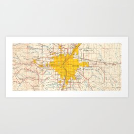 denver map year 1958 old map us maps usa maps vintage maps