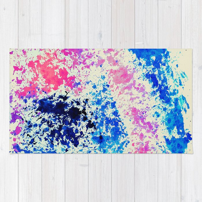 Blue, Pink And Cream Watercolor Abstract