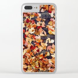Fall Leafs (Color) Clear iPhone Case