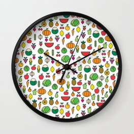 fruits & vegetables Wall Clock
