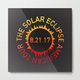 The Solar Eclipse American Tour Metal Print