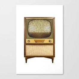 Vintage Television on White Canvas Print