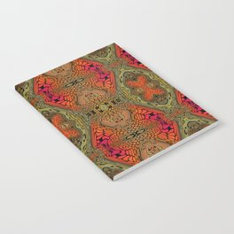 Whimsical pink, orange and green retro pattern  Notebook