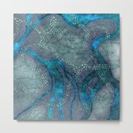 Game map for fantasy world Alien planet Pod's transmission game art Metal Print