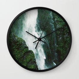 Milford Sound Waterfall Wall Clock