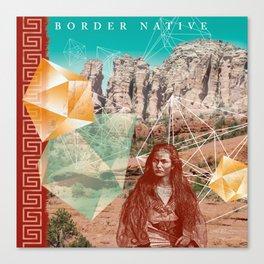 Border Native Canvas Print