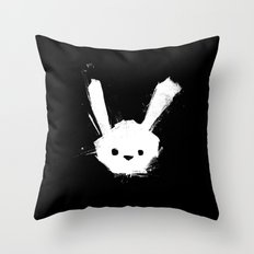 minima - splatter rabbit  Throw Pillow