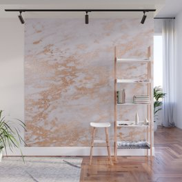 Pastel Lavender Marble Rosegold Glitter Pink Wall Mural