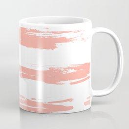 Pretty Pink Brush Stripes Horizontal Coffee Mug