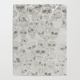 Skulls Pattern Poster