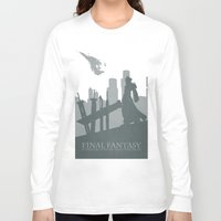 final fantasy Long Sleeve T-shirts featuring Final Fantasy VII by [SilenceCorp.]