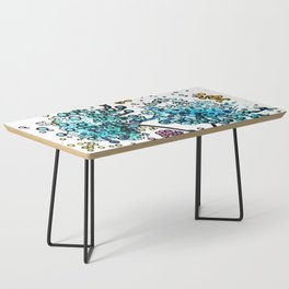 Purple floral watercolor abstraction Coffee Table