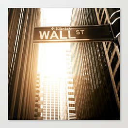 wall street in nyc  Canvas Print