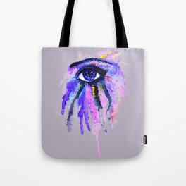 Blue eye splashing Tote Bag