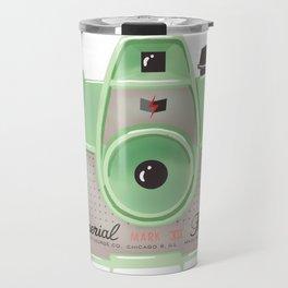 Vintage Camera - Green Travel Mug