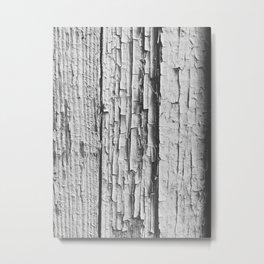 Old White Paint Metal Print