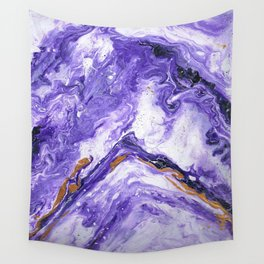 Chevron Amethyst 1 Wall Tapestry