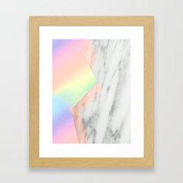 Unicorn Texture on Carrara Italian Marble Framed Art Print
