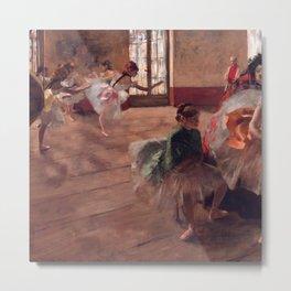 "Edgar Degas ""The Rehearsal"" Metal Print"