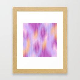 Line Land Framed Art Print
