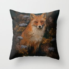 The Fox In The Forest Throw Pillow