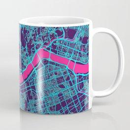 Seoul Neon City Map, Seoul Minimalist City Map Coffee Mug