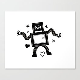 Rant Robot Canvas Print