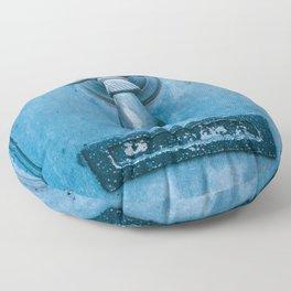 Blue Doorknocker Floor Pillow