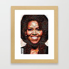 BEHIND THE FACE Michelle Obama | fat women Framed Art Print