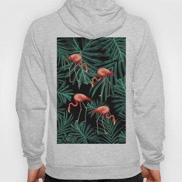 Summer Flamingo Jungle Night Vibes #2 #tropical #decor #art #society6 Hoody