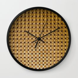 Gold and wood carving pattern Wall Clock