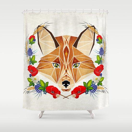 spring fox  Shower Curtain