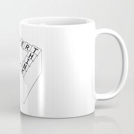 overthinking - black&white Coffee Mug