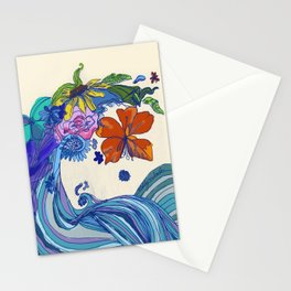 Flower Wave Stationery Cards