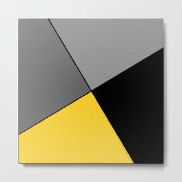 Modern art triangle design Metal Print