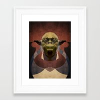 yoda Framed Art Prints featuring Yoda by lazylaves
