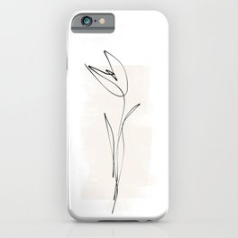 Abstract Tulip | Minimal One Line Drawing iPhone Case