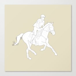 Eventing in Tan Canvas Print