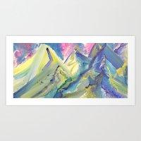 Dripping Mountains  Art Print