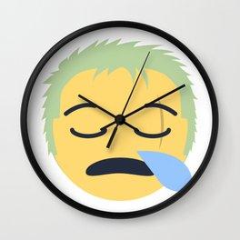 Roronoa Zoro Emoji Design Wall Clock