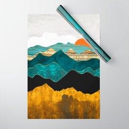 Turquoise Vista Wrapping Paper