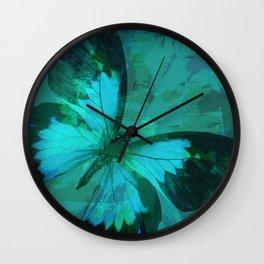 Butterfly Blue Wall Clock