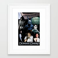 donnie darko Framed Art Prints featuring donnie darko by American Artist