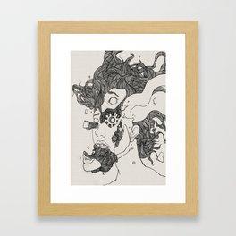 Broken into pieces Framed Art Print